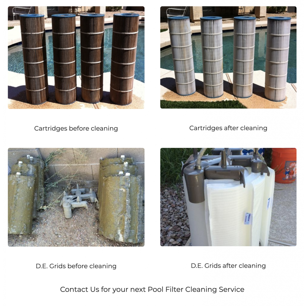 gilbert pool filter cleaning